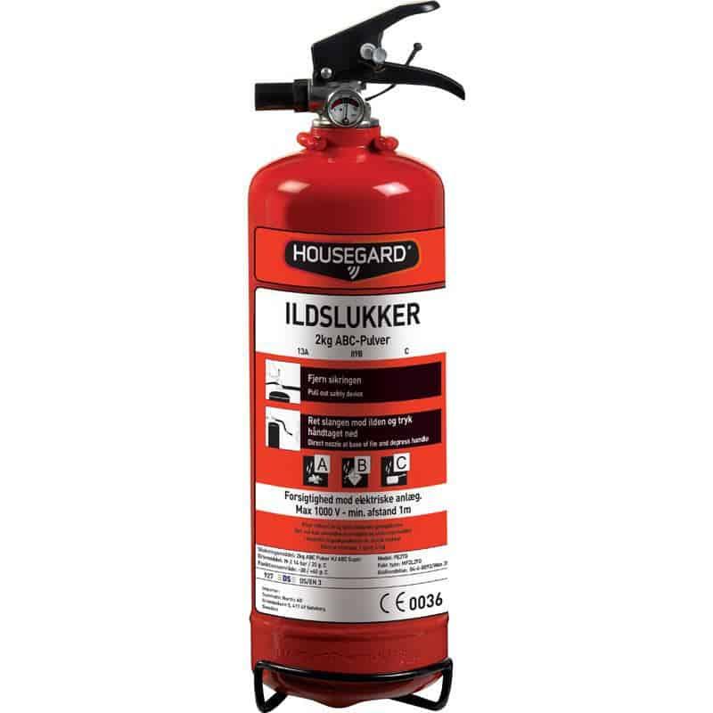 Ildslukker 2 eller 6 kg ABV Pulverslukker fra Housegard