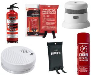 Røglarm og brandslukningsudstyr