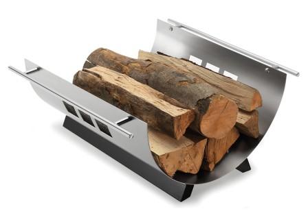 Brændekurv_metal_med_træ